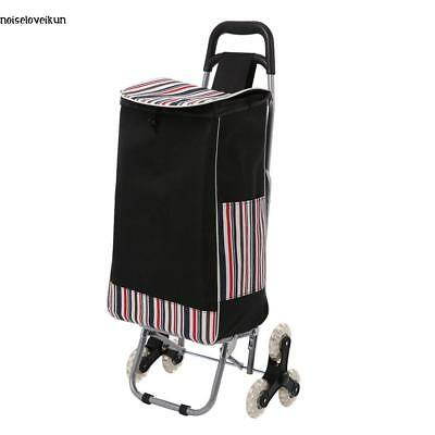Folding Shopping Cart Climbing Trolly Waterproof Grocery Laundry Useful for Mom