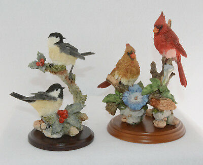 Country Artists Stratford Collection Two Resin Bird Figurines