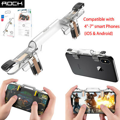 Rock PUBG Shooting Game Controller Cell Phone Trigger Joystick Shoot &Aim Button