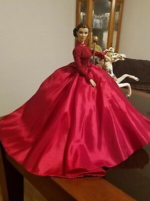 """Robert Tonner  Gone With the Wind 16"""" Scarlett O'Hara red Doll & Horse carousel"""