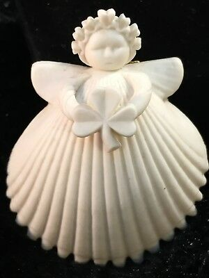 1998 Margaret Furlong Sea Shell Angel Holding Shamrock 2""