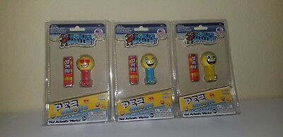 PEZ - 2017 World's Smallest - Set of 3 Emojis - Mint In Packages - MIP - VHTF