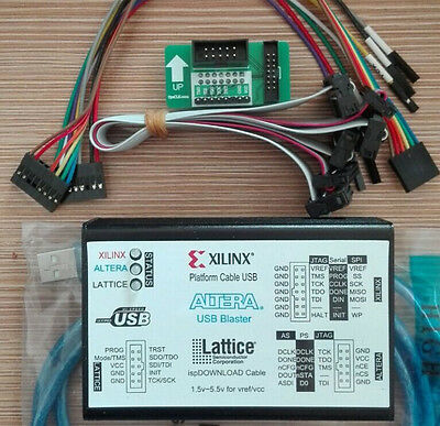 1.5V-5.5V USB2.0 XILINX ALTERA LATTICE 3IN1 Download Cable Program CPLD/FPGA New