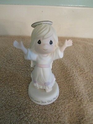 "Precious Moments Angel "" God Loves You This Much "" Figurine 2011 # 114041"