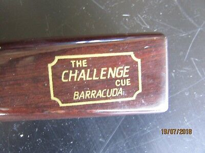 Pool Cue - The Challenge Cue Barracuda, Made by Barton McGill Ltd Auckland