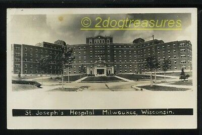 Rppc St Joseph's Hospital Milwaukee Wi Wisconsin Old Real Photo