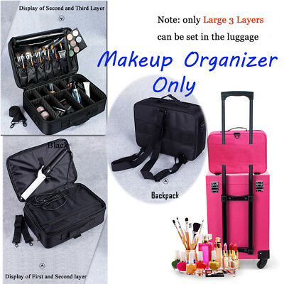 Professional Makeup Organizer Cosmetic Case Large Capacity Storage Bag Suitcases