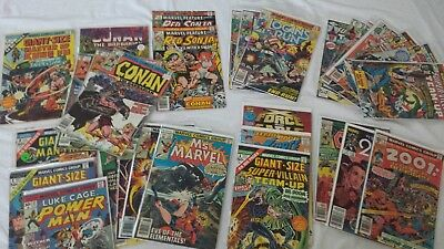 Lot of 43 Marvel Copper Bronze Silver Age Comics Giant Sized Ms Marvel Power Man