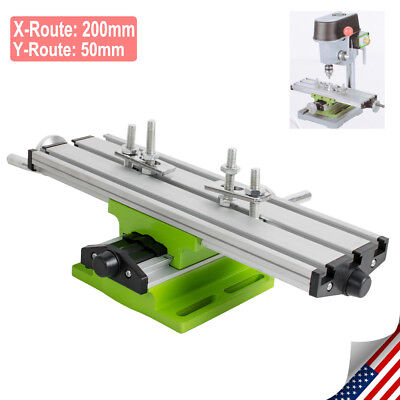 X Y Axis Milling Working Table Cross Sliding Bench Drill Vise Fixture DIY US FDA