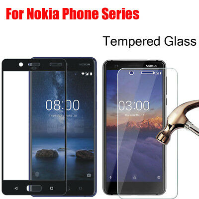 Tempered Glass For Nokia 2.1,3.1,5.1,6.1 X5 X6 2018 Phone Screen Protector Film