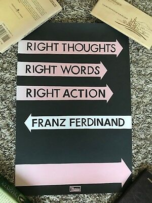 Franz Ferdinand 2013 Right Thoughts Echoplex Los Angeles Promo Tour Poster