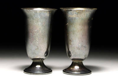 Japanese Antique Pure silver Japanese SAKE cup 2 pieces  #27g./0.95oz