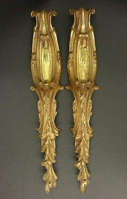 Pair Of Large Falls Ornaments Stamped, Louis Xv Style - Bronze - French Antique