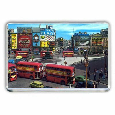 Look Back In Time: Piccadilly Circus 1963 Routemaster Bus  - Jumbo Fridge Magnet