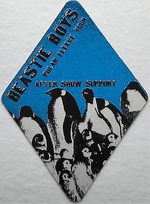 * Beastie Boys * - After Show Support - Satin Backstage Pass - 1995 - Ultra Rare