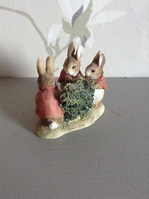 World of Beatrix Potter Flopsy,Mopsy and Cottontail figurine