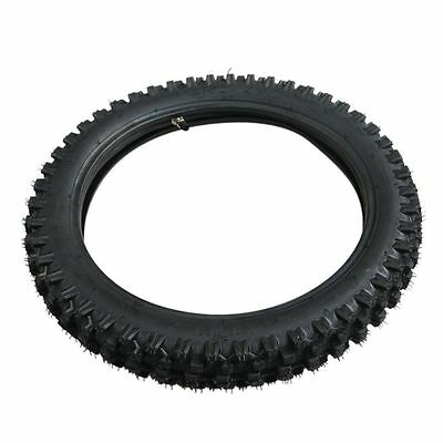 "Front Knobby Tire Tyre 2.50/2.75 - 14 60/100 - 14"" w/ Inner Tube Pit Dirt Bike"