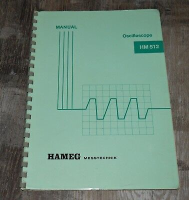 Handbuch Manual - Oscilloscope HM 512 - HAMEG Messtechnik