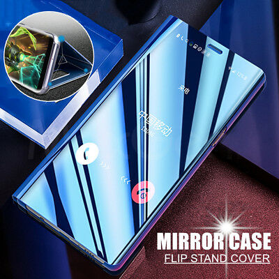 Luxury Smart View Mirror Leather Flip Stand Case Cover For Huawei Mate 20 Lite