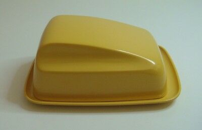 Bessemer butter dish container Buttercup Yellow Melamine Vintage made in Aus