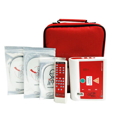 Automatic External AED Simulator Trainer CPR First Aid Training  Spanish+English