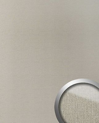 WallFace 18590 DECO Wall panel self-adhesive textile Glass look silver 2,60 sqm