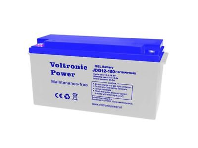 Batterie Solaire Gel 150 Ah 12V Decharge Lent Etanche-Voltronic Power