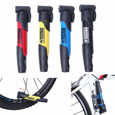 Sports Mini Portable Bicycle Cycling Bike Air Pump Tyre Tire Inflator Inflating