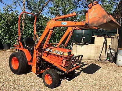 Kubota B1750 HST 4wd 20hp compact tractor used