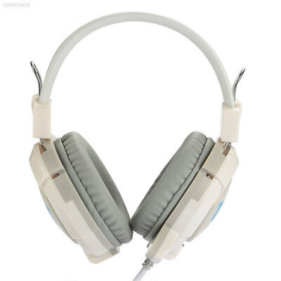 3.5mm Wired Bass Gaming Player Over Ear Headset Headphone with Mic For PC Laptop