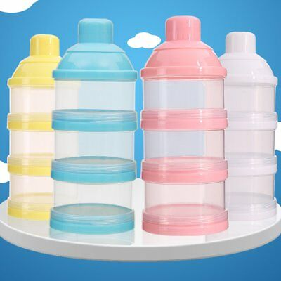 3 Layers Baby Formula Milk Powder Dispenser Bottle Food Storage Container tall