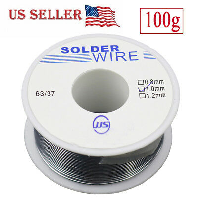 63/37 Tin Lead Rosin Core Flux Solder Wire for Electrical Solderding 1.0mm 100g
