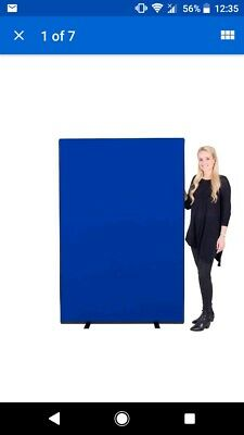 Office Screen Partition Divider Panel 1200mm w x 1800mm h Nyloop - blue