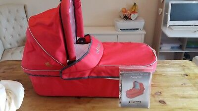 Out N About Nipper Single Carrycot Red with Raincover