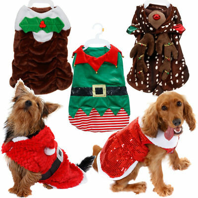 Christmas Novelty Pet Dog Costume Xmas Festive Fancy Dress Outfits New Free Post