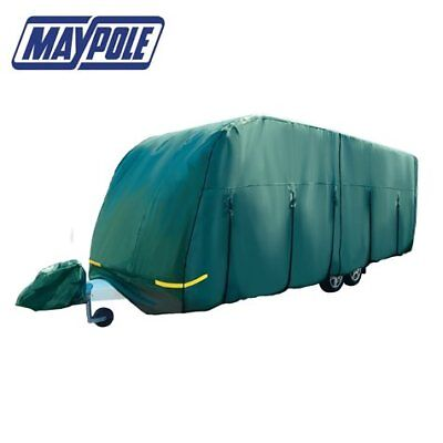 Maypole Premium 4-Ply Breathable Green Full Caravan Cover Fits 14-17ft MP9532