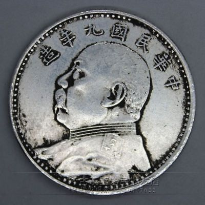 Rare China Ancient silver coin statue set 40MM 30g Sterling silver YY019