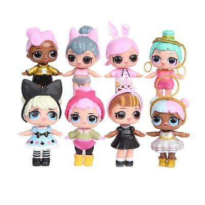 8 Pcs Cartoon LOL Surprise Doll Blind Mystery Toy PVC Action Figure Cake Topper