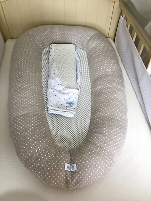 PurFlo Breathable Baby Nest And Spare Cover Sleepy Head StyleExcellent Condition