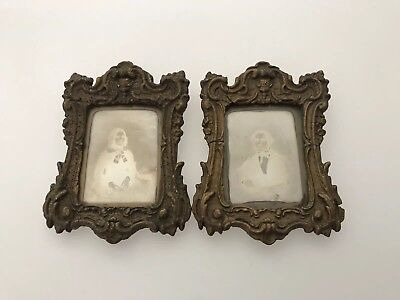 Pair Of Antique Daguerreotypes In Original Gilt Frames