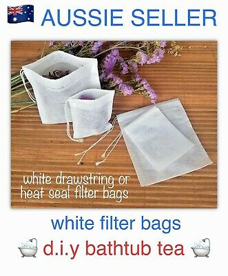 🛀🛁x10 EMPTY LARGE TUB TEA PACKAGING BAGS/POUCHES~DIY BOTANICAL/HERB BATH SALTS