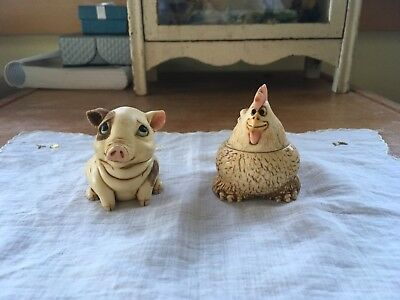 2001 Harmony Kingdom Pot Belly's Puddles and Dewie Excellent Condition