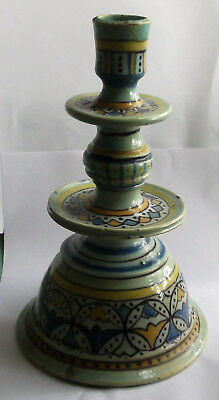 Antique Ceramic Candlestick - Middle Eastern