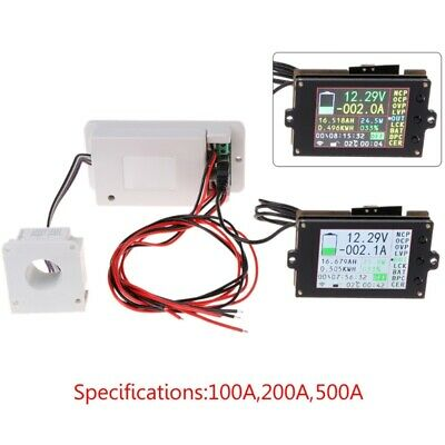 DC 500V 100A 200A 500A Wireless Voltmeter Ammeter Coulometer Battery Power Meter