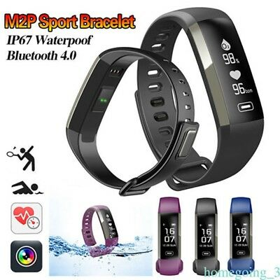 Heart Rate Fitness Tracker Smart Wristwatch Men Women Bracelet for iOS Android