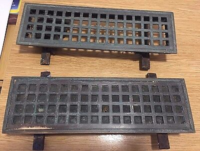 Antique Victorian Period Reclaimed Brass Air Brick Vent Grill