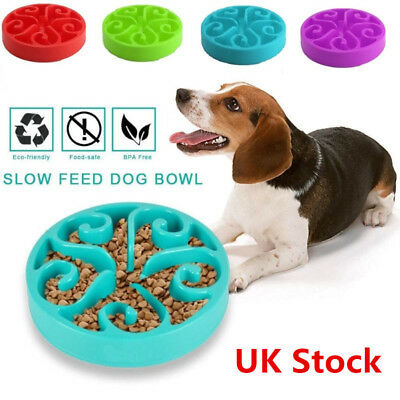 Pet Dog Interactive Maze Slow Food Bowl Healthy Anti Slip Gulp Bloat Dish Feeder