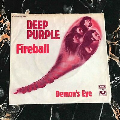 "Deep Purple 7"" nur only Cover Fireball !!! Hard Rock !!!"