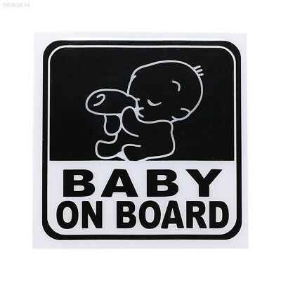C6B8 PVC Baby On Board Graphic Car Window Reflective Safety Warning Sticker