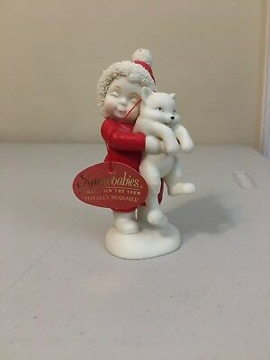 "Dept 56 Snowbabies Babies on the Farm ""Totally Huggable"" 2002 Cat Figurine"